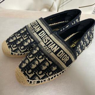 Christian Dior - 試着のみ ディオール Dior オブリーク刺繍エスパドリーユスニーカー 37D