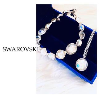 SWAROVSKI - 【可愛い】スワロフスキー ブレスレット+ネックレスセット ホワイト 正規