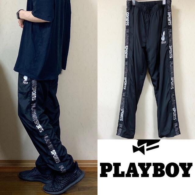 PLAYBOY(プレイボーイ)の90's PLAY BOY プレイボーイ ナイロンパンツ トラックパンツ  メンズのジャケット/アウター(ナイロンジャケット)の商品写真