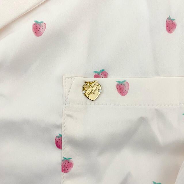 gelato pique(ジェラートピケ)のgelato pique ジェラートピケ サテンストロベリー シャツ パンツ レディースのルームウェア/パジャマ(ルームウェア)の商品写真