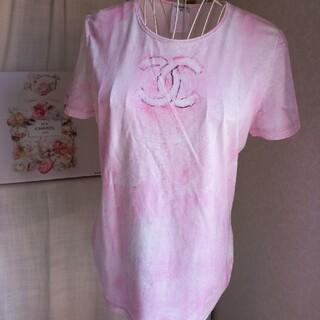シャネル(CHANEL)の美品 CHANELマイアミコレクションTシャツ42(Tシャツ/カットソー(半袖/袖なし))