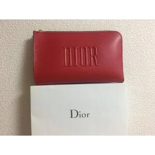 Dior - DIOR 限定レッド 化粧ポーチ 未使用