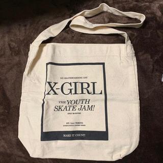 X-girl - 未使用品 エックスガール トートバッグ ショルダーバッグ キャンバス生地