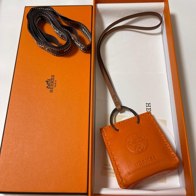 Hermes(エルメス)のHERMES エルメス ショッパーチャーム サックオランジュ オレンジ レディースのアクセサリー(チャーム)の商品写真