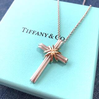 Tiffany & Co. - Tiffany ティファニー クロス ネックレス AG925 18K