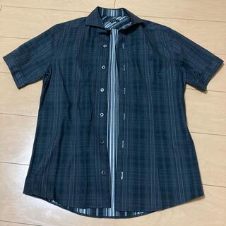エムケーミッシェルクランオム(MK MICHEL KLEIN homme)のMK MICHEL KLEIN メンズ半袖シャツ黒 Mサイズ(シャツ)