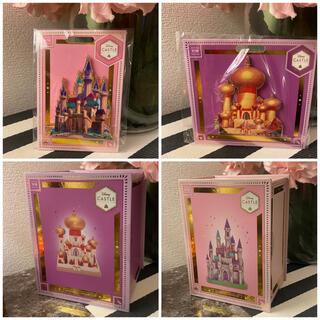 ディズニー(Disney)のキャッスルコレクション♡眠れる森の美女&アラジン♡城オーナメント♡ピンバッジ♡(置物)