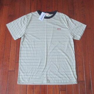 エドウィン(EDWIN)の未使用品:紳士用 EDWIN 縞目模様の爽快半袖 Tシャツ (L,タグ付き)(Tシャツ/カットソー(半袖/袖なし))