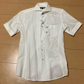 エムケーミッシェルクランオム(MK MICHEL KLEIN homme)のMK MICHEL KLEIN メンズ半袖シャツ 白 Mサイズ(シャツ)