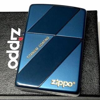 ジッポー(ZIPPO)のzippo新品未使用品チタンブルーコーティングTBC(タバコグッズ)