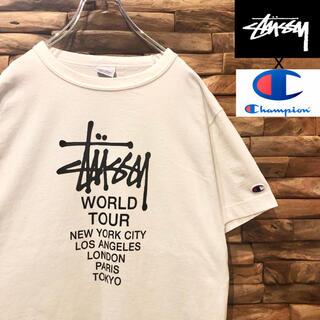 STUSSY - ステューシー×チャンピオン コラボ ワールドツアー Tシャツ Sサイズ
