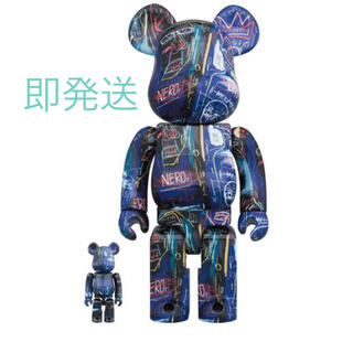 MEDICOM TOY - BE@RBRICK JEAN-MICHEL BASQUIAT 400% 100%
