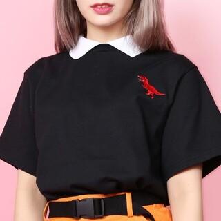 ダブルシー(wc)のWC  ダブルシー  ザウルス 襟付き Tシャツ(Tシャツ(半袖/袖なし))