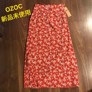 オゾック(OZOC)の☆新品未使用☆OZOC ロングスカート 花柄 Lサイズ タグ付き(ロングスカート)
