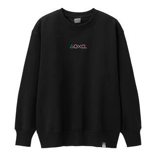 ジーユー(GU)のGU PlayStation ビッグスウェットシャツ(ブラック)(スウェット)