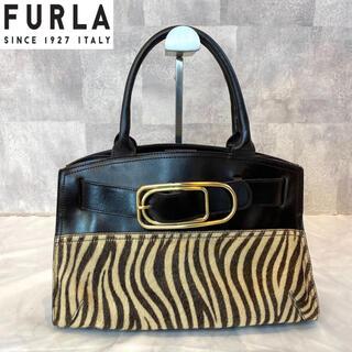 Furla - 【美品】FURLA フルラ 希少 アニマル柄 ハラコ×レザー トートバッグ