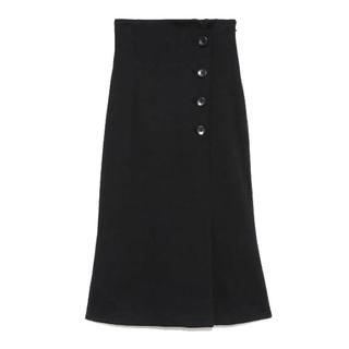 snidel - snidel ラップ釦タイトスカート マーメイドスカート ブラック