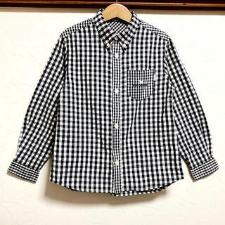 ポンポネット(pom ponette)の美品 ポンポネットチェックシャツ 130 ブラウス トップス(ブラウス)