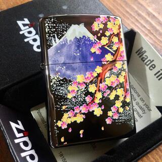 ジッポー(ZIPPO)の新品 Zippo 桜富士 ブライトアート 和柄 ジッポー(タバコグッズ)