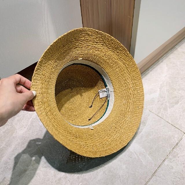 miumiu(ミュウミュウ)のmiumiu麦わら帽子。 レディースの帽子(麦わら帽子/ストローハット)の商品写真