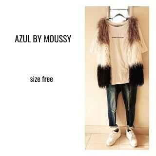 アズールバイマウジー(AZUL by moussy)のAZUL BY MOUSSY ☆ファーベスト★可愛い★美品(ベスト/ジレ)