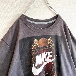 NIKE - 【ナイキ】ビッグロゴ 大きめ Tシャツ 半袖 プリント XL ゆるだぼ アメリカ