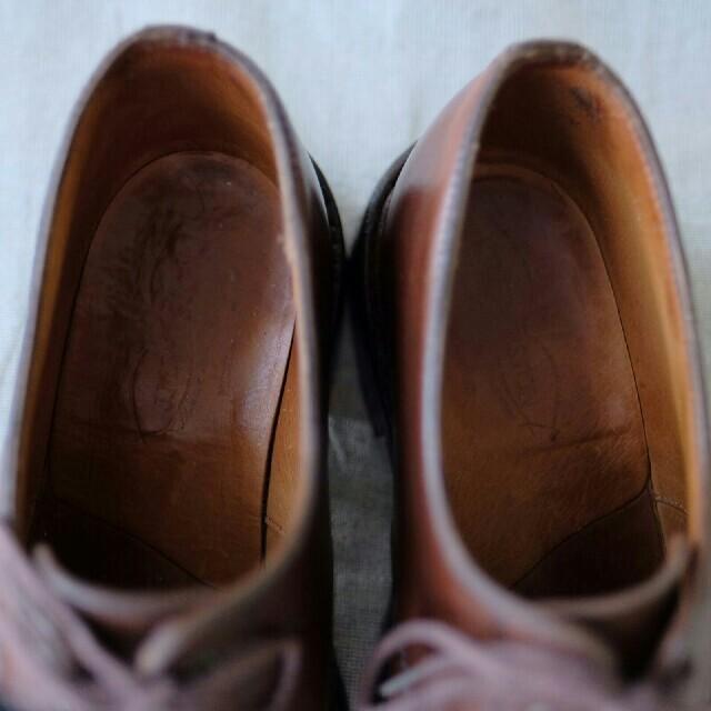 J.M. WESTON(ジェーエムウエストン)のjmweston 597スプリットトゥダービー 5.5E 純正ツリー付き メンズの靴/シューズ(ドレス/ビジネス)の商品写真