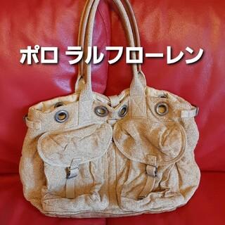 POLO RALPH LAUREN - ★ラルフローレン★バッグ★大きいトートバッグ★夏バッグ★麻★育児バッグとしても★