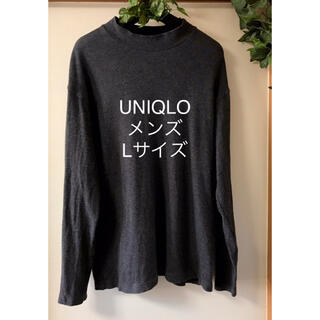 UNIQLO - UNIQLOユニクロ  ストレッチ メンズ ブラック 半袖 トップス Lサイズ