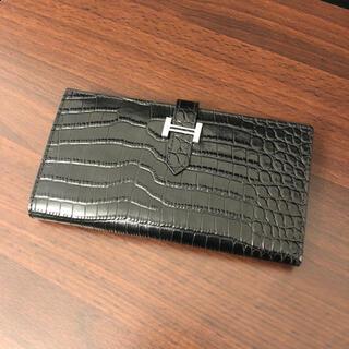 【dude9】クロコ型押し 長財布
