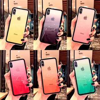 6色★グラデーション シンプル iPhoneクリアケース ★