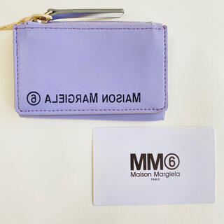 エムエムシックス(MM6)の【新品】MM6 メゾン マルジェラ 三つ折り財布 ミニ財布 パープル 訳あり特価(財布)