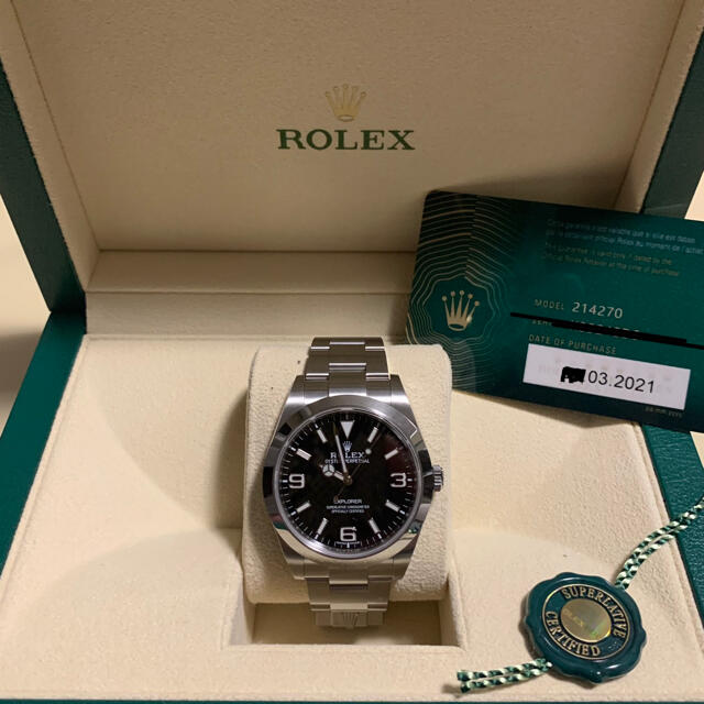 ROLEX(ロレックス)のエクスプローラーワン(21年3月正規店購入) メンズの時計(腕時計(アナログ))の商品写真