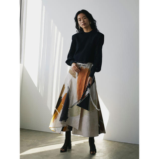 Ameri VINTAGE - LOUISE ART SKIRT ロングスカート