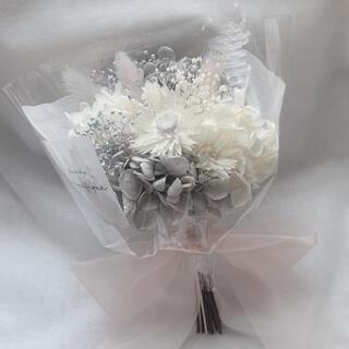 ピンクグレー系 ドライフラワー 花束 ブーケ ギフト 母の日(ドライフラワー)
