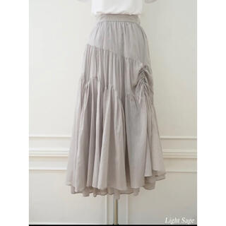 snidel - Asymmetric Tiered Cotton-voile Skirt