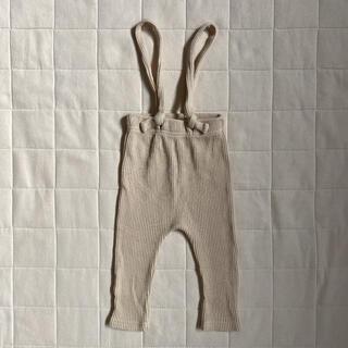 韓国子供服 リブレギンス サスペンダーパンツ 18m(80size相当)