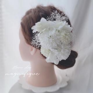 【No.322】ヘッドドレス 髪飾り オールホワイト(ヘッドドレス/ドレス)