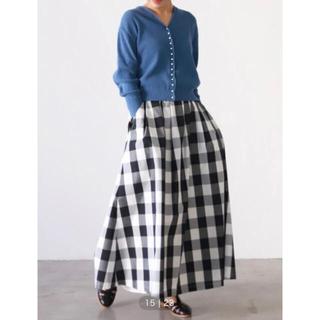 IENA SLOBE - 【タグ付き新品未使用】ギンガムチェックタフタスカート