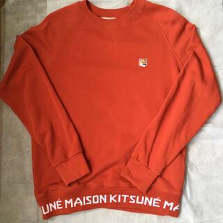 MAISON KITSUNE' - メゾンキツネ トレーナーMサイズ オレンジ