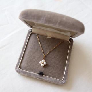 MIKIMOTO - MIKIMOTO パール ダイヤモンド K18 ネックレス