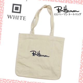 Ron Herman - ローンハーマン トートバッグ ホワイト ロゴ刺繍入り ショッピングバッグ 新品
