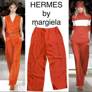 Hermes - HERMES by margiela リネン100%パンツ