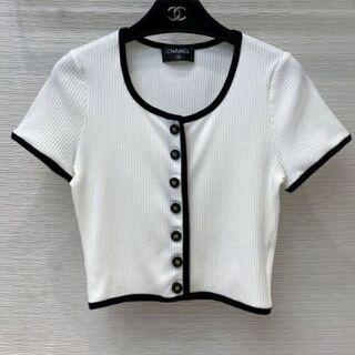 CHANEL - CHANEL  ニット 半袖  Tシャツ   36