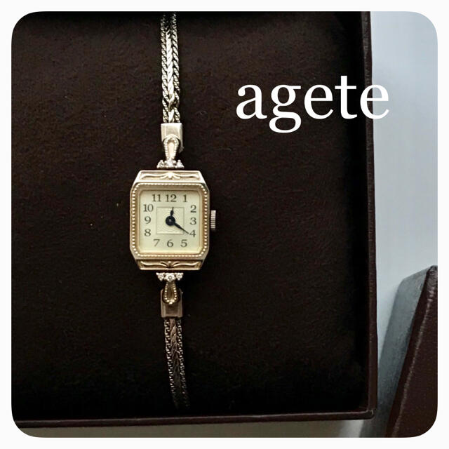 agete(アガット)のアガット*時計(ヴァンドームアオヤマ、カルティエ、タサキ、ヴァンクリーフアーペル レディースのファッション小物(腕時計)の商品写真
