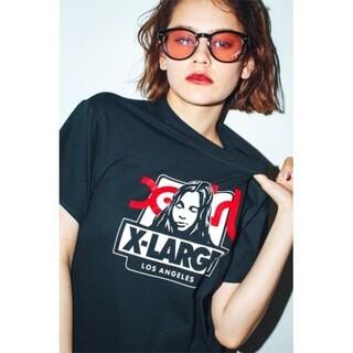 X-girl - X-girl × X-LARGE OG BOX FACE Tシャツ emma