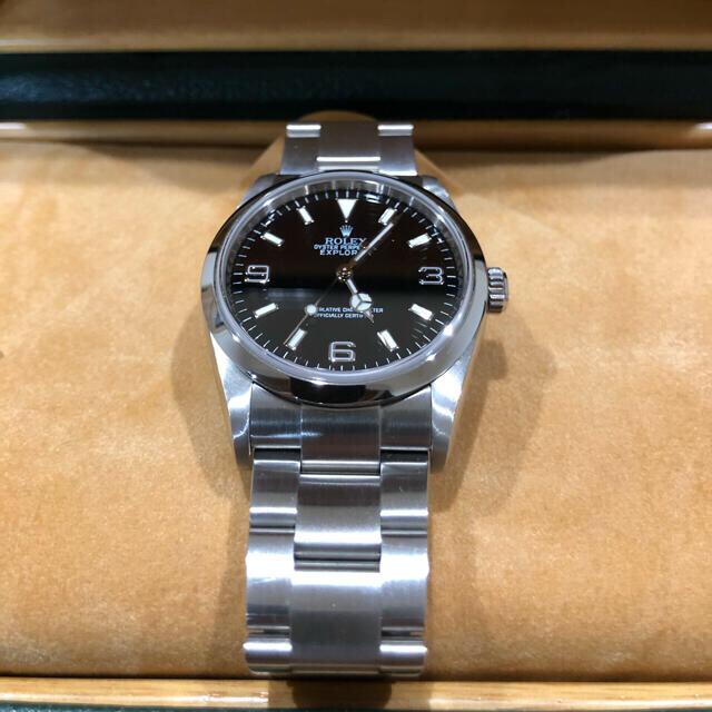 ROLEX エクスプローラー1 114270 ルーレット刻印 メンズの時計(腕時計(アナログ))の商品写真