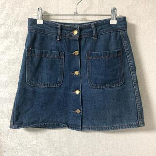 スピンズ(SPINNS)のスピンズ デニムミニスカート デニムスカート 台形スカート(ミニスカート)