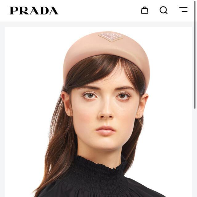 PRADA(プラダ)のPRADA ヘッドバンド ヘアーアクセサリー レディースのヘアアクセサリー(カチューシャ)の商品写真