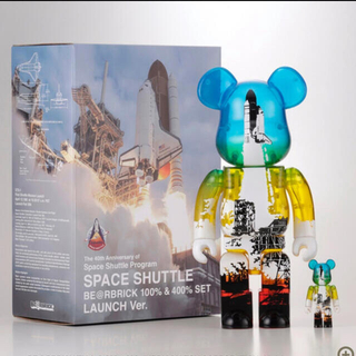 MEDICOM TOY - SPACE SHUTTLE BE@RBRICK LAUNCH 100&400%
